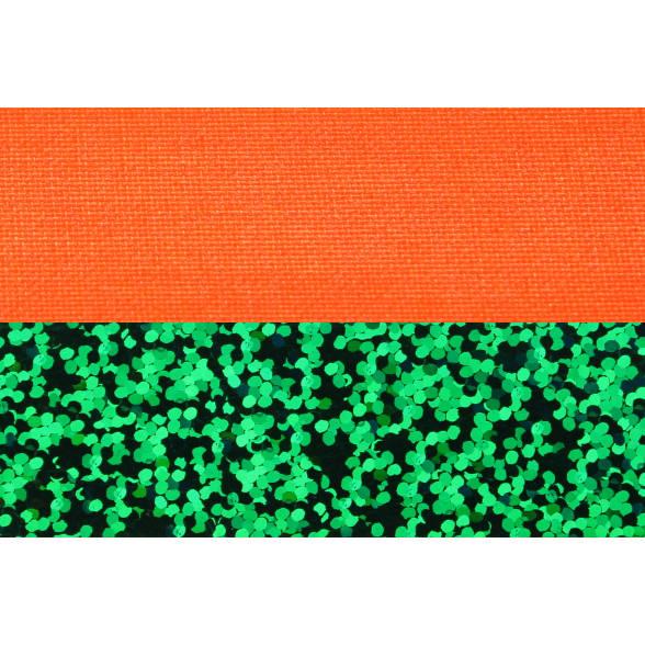 Hula Hoop, 90cm, orange (UV) / grün-glitzer