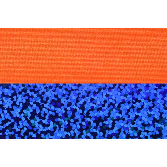 Hula Hoop, 90cm, orange (UV) / blau-glitzer