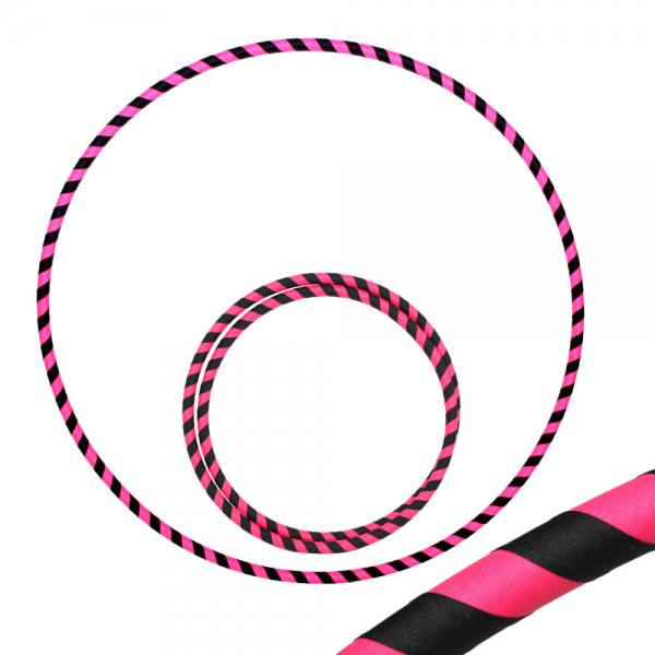 Hula Hoop, 85cm, schwarz / pink (uv)