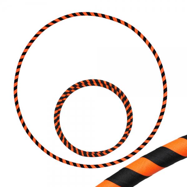 Hula Hoop, 85cm, schwarz / orange (uv)