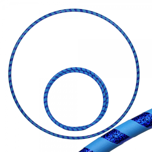 Hula Hoop, 90cm, blau / blau-glitzer