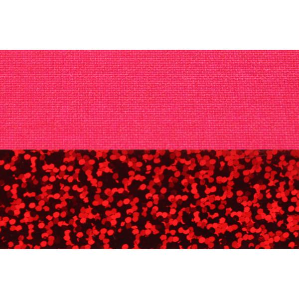 Hula Hoop, 90cm, pink (UV) / rot-glitzer