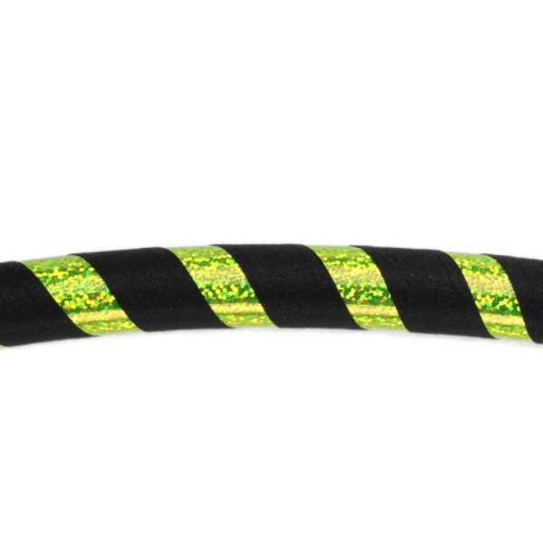 Hula Hoop, 90cm, schwarz / gelb-glitzer