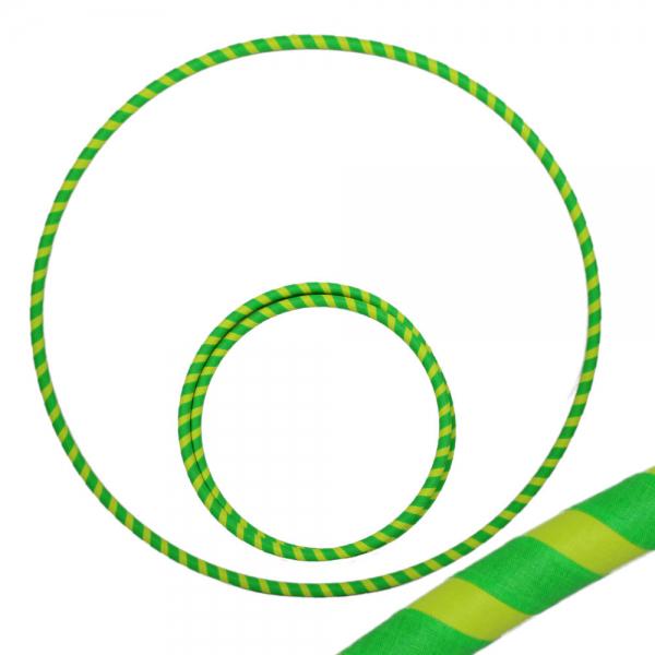 Hula Hoop, 80cm, UV grün / gelb
