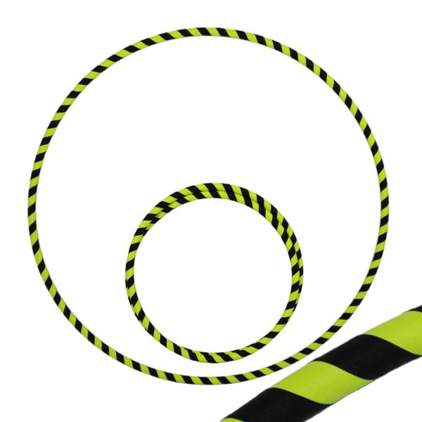 Hula Hoop, 90cm, schwarz / gelb (uv)