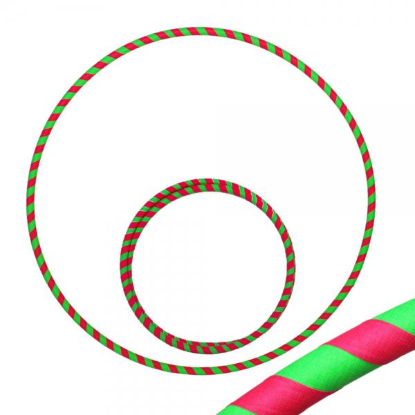 Hula Hoop, 80cm, UV pink / grün