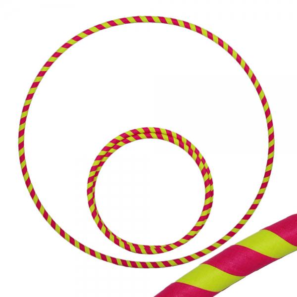 Hula Hoop, 90cm, UV pink / gelb