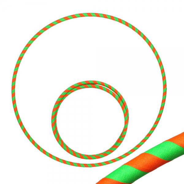 Hula Hoop, 80cm, UV orange / grün