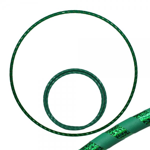 Hula Hoop, 90cm, grün / grün-glitzer