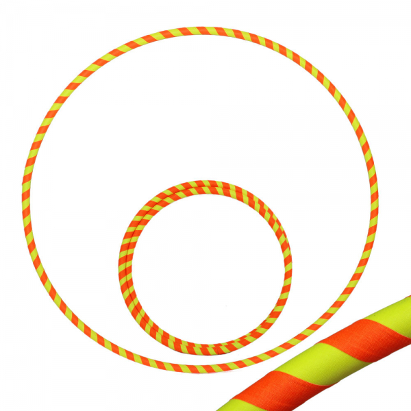 Hula Hoop, 90cm, UV orange / gelb