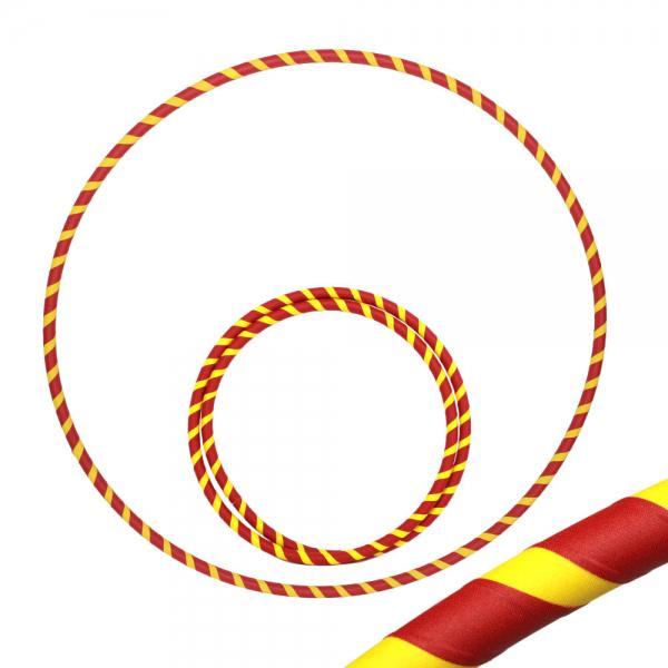 Hula Hoop, 85cm, rot / gelb
