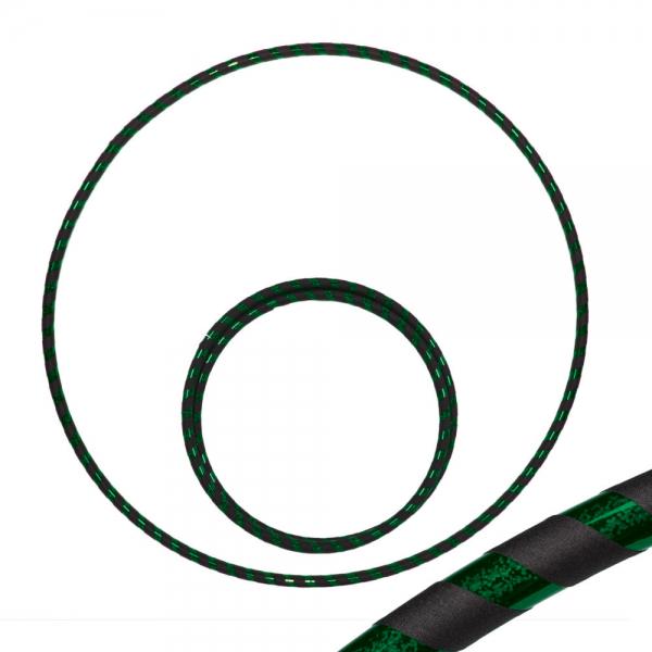 Hoop 90 schwarz grün-glitzer Travel