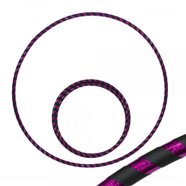 Hula Hoop, 90cm, schwarz / lila-glitzer