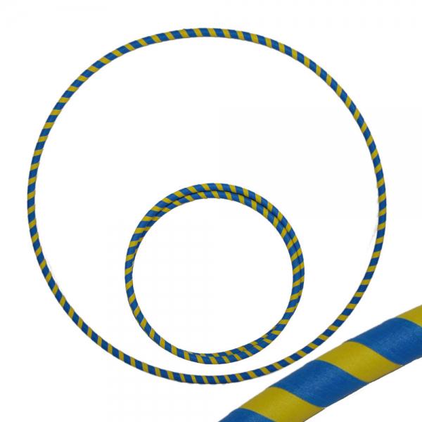 Hula Hoop, 90cm, blau / gelb