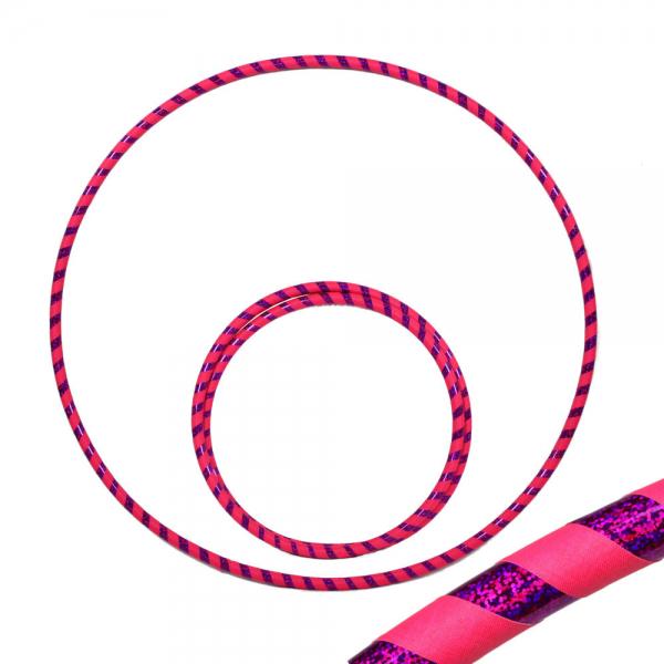 Hula Hoop, 90cm, pink (uv) / lila-glitzer