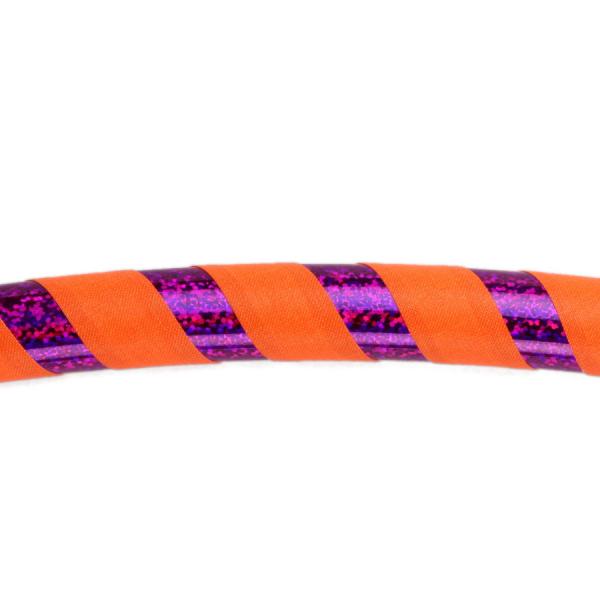 Hula Hoop, 90cm, orange (UV) / lila-glitzer