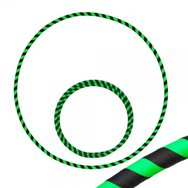 Hula Hoop, 90cm, schwarz / grün (uv)