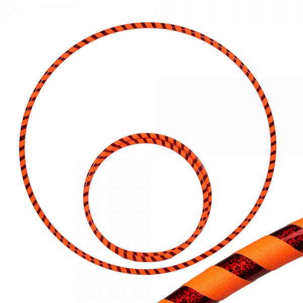 Hula Hoop, 90cm, orange (uv) / rot-glitzer